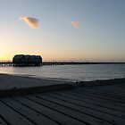 Photographing Busselton Jetty at sunset by Phil  Crean