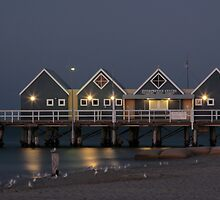 Busselton Jetty museum at dusk by Phil  Crean