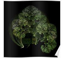 Fractal Ring Tree Poster