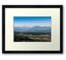 scenic view from uetliberg Framed Print