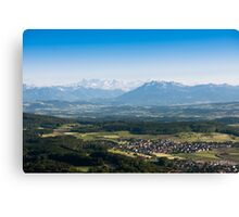 scenic view from uetliberg Canvas Print