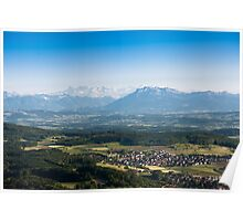 scenic view from uetliberg Poster