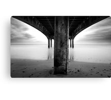 below the pier Canvas Print