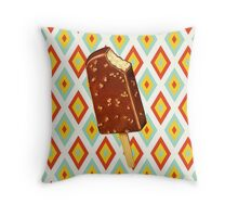 Toffee Crunch Ice Cream Throw Pillow