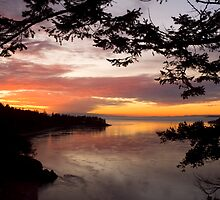Sunset from the bridge over Deception Pass fine art photography by yuliart