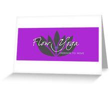 Flow Yoga Kate McLeay Greeting Card