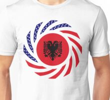 Albanian American Multinational Patriot Flag Series Unisex T-Shirt