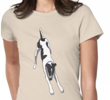 Downward Dog (Full Chest) Womens Fitted T-Shirt