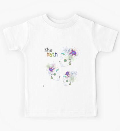 """She Math Multi""© Kids Tee"