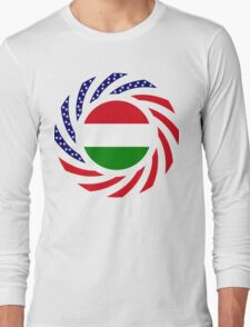 Hungarian American Multinational Patriot Flag Series Long Sleeve T-Shirt