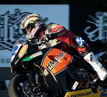 John McGuinness rounds Quarter Bridge IOM TT 2009 by Photodoktor