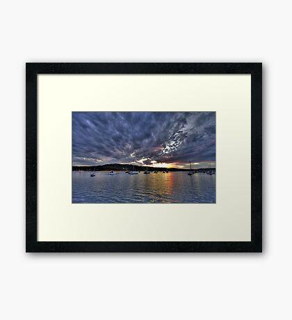 Sky Light - Newport , Sydney - The HDR Experience Framed Print