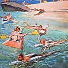 Future Beach - 1950's by Gareth Stamp
