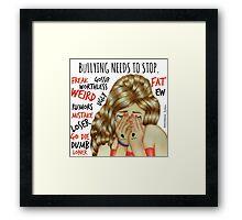 Stop Bullying Framed Print