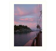 Turkish Sunset Art Print