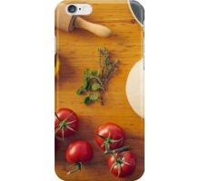 Ingredients for making pizza iPhone Case/Skin