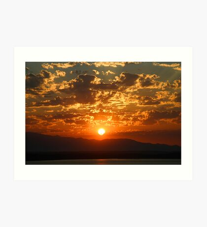Glorious End to the Day Art Print