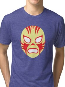 Mexican Wrestling Mask, Luchador Tri-blend T-Shirt