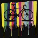 Rainbow bicycle by cheeckymonkey