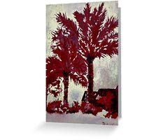 palm trees modern art acrylic painting Greeting Card