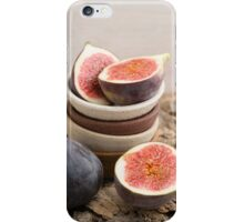 Fresh figs in bowls iPhone Case/Skin