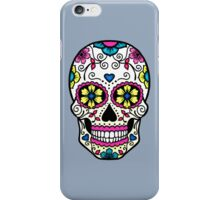 Purple Sugar Skull iPhone Case/Skin