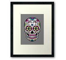 Purple Sugar Skull Framed Print