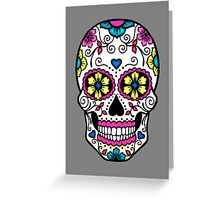 Purple Sugar Skull Greeting Card