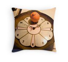 A Clock Wok Orange Throw Pillow