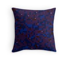 Aubergine Glitch Throw Pillow