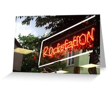 Neon Reflections Greeting Card