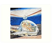 Space helicopter future Art Print