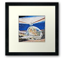 Space helicopter future Framed Print