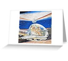 Space helicopter future Greeting Card
