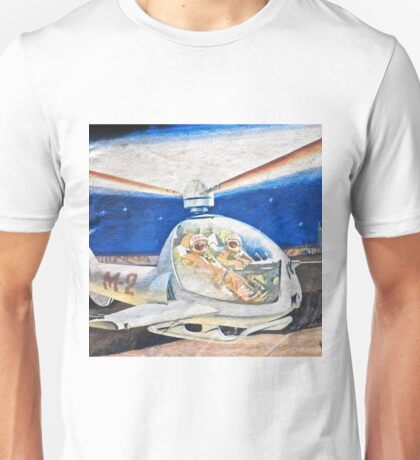Space helicopter future Unisex T-Shirt