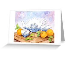 China Ships Greeting Card