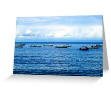 Empty Boats Greeting Card