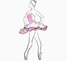 sketch of girls ballerina standing in a pose Unisex T-Shirt