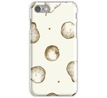 seamless pattern of fruit - apple and pear iPhone Case/Skin