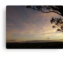 Sunset over Goulburn. Canvas Print