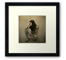 Alone and Brooding the Fact You would Never Know the Difference. Framed Print