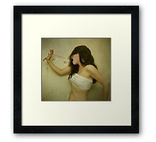 Everything Inside, It Never Comes Out Right. Framed Print