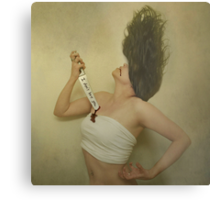 Because Today Your Words felt like a Knife. Metal Print