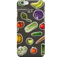 illustration of a set of hand-painted vegetables, fruits iPhone Case/Skin