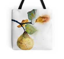 Watercolor illustration of pear Tote Bag