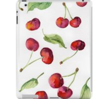 Watercolor  cherry. Raster illustration. iPad Case/Skin