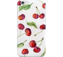 Watercolor  cherry. Raster illustration. iPhone Case/Skin