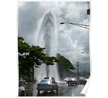 Exploding Fire Hydrant on Rice Street Poster