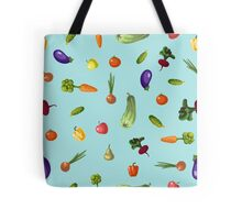 with growing vegetables - beetroot, potato, carrot, garlic and onion Tote Bag