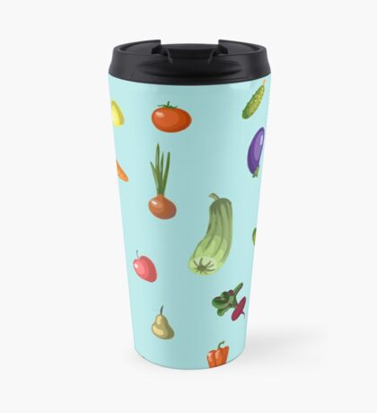with growing vegetables - beetroot, potato, carrot, garlic and onion Travel Mug